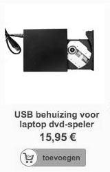 USB2.0 behuizing voor laptop DVD of BR speler