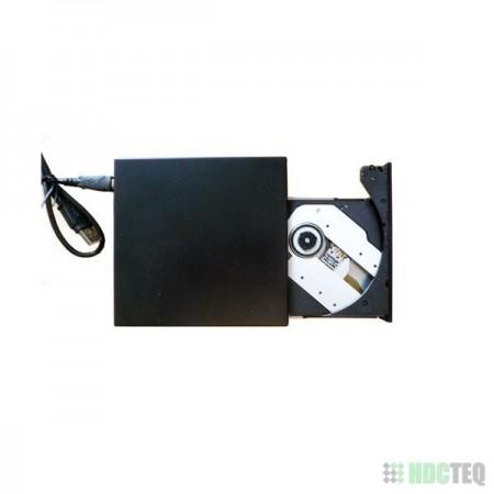 USB 2.0 behuizing voor 9.5mm SATA laptop DVD of BR speler