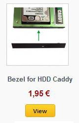 bezel for HDD Caddy