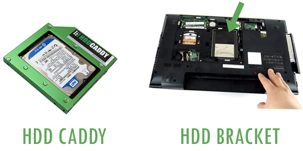 difference hdd caddy and bracket
