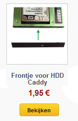 frontje voor HDD Caddy